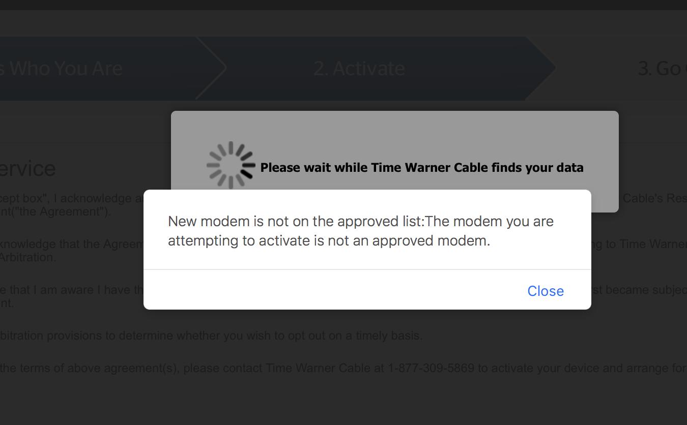 solved: cbr40 modem/router = no spectrum compatibility? - netgear