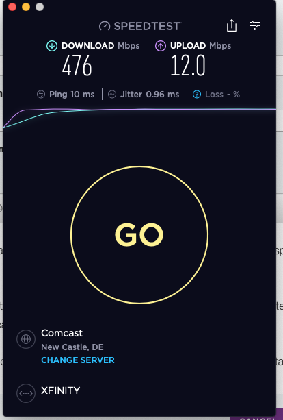Re: CM500V - 450+ Mbps download speeds on Xfinity