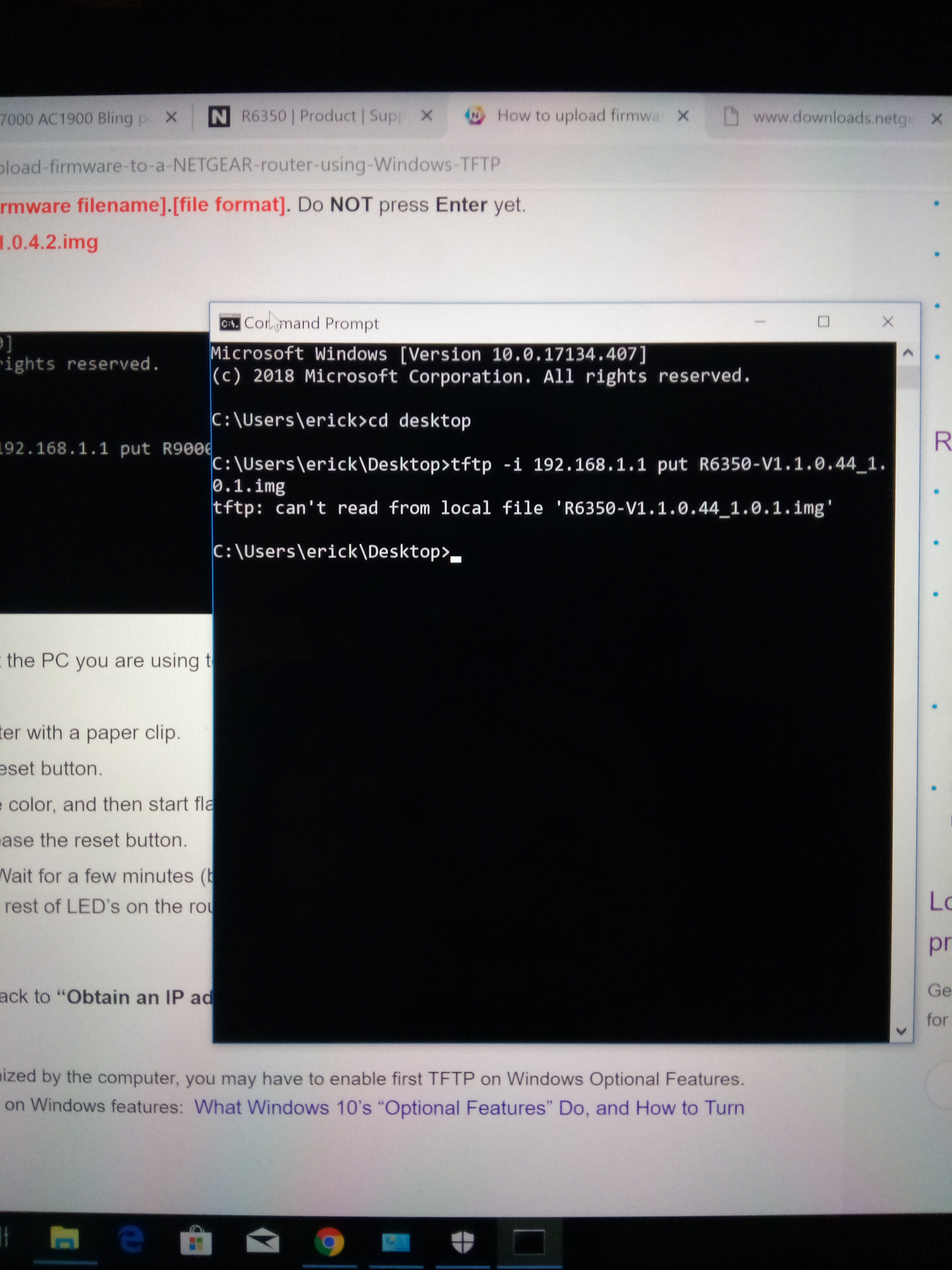 Re: Firmware Update Failure for R6350 AC1750 - NETGEAR