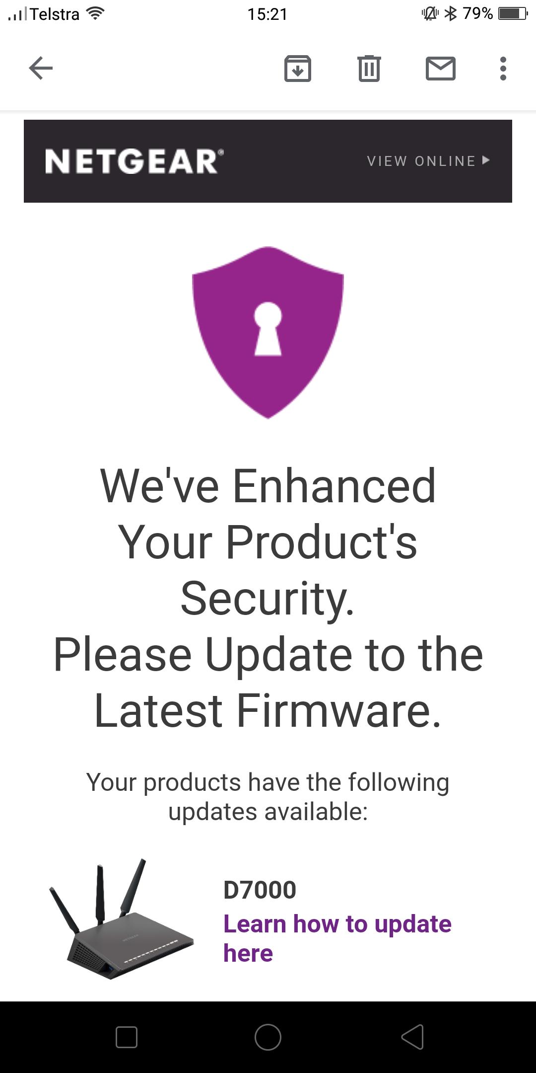 netgear firmware update d7000 1.0.1.50