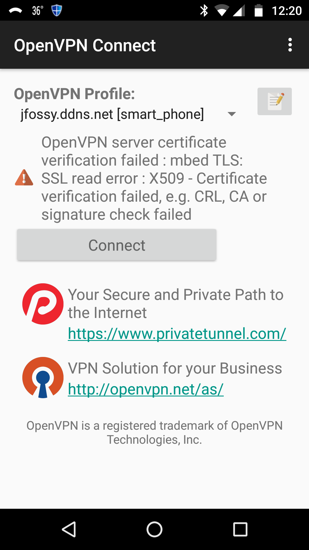 Solved: OpenVPN 1 1 22 Android - NETGEAR Communities