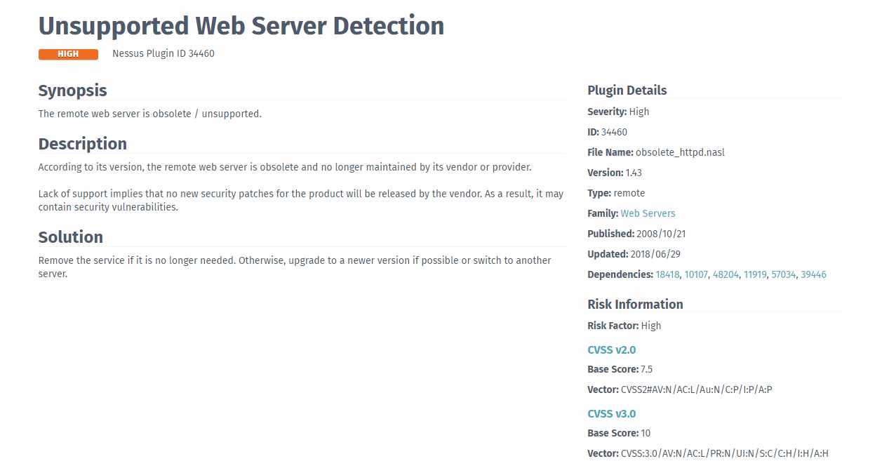 ReadyNAS 4312X - Nessus Scan sees Web Server as a     - NETGEAR