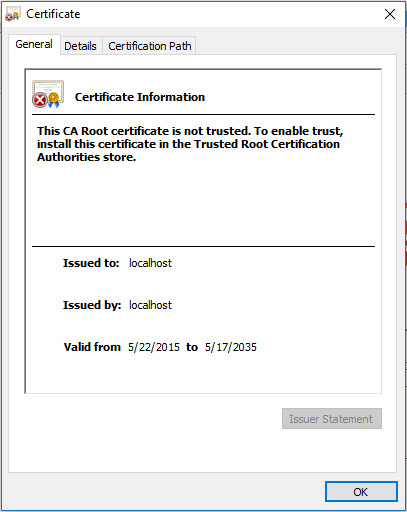 Self-Signed Cert