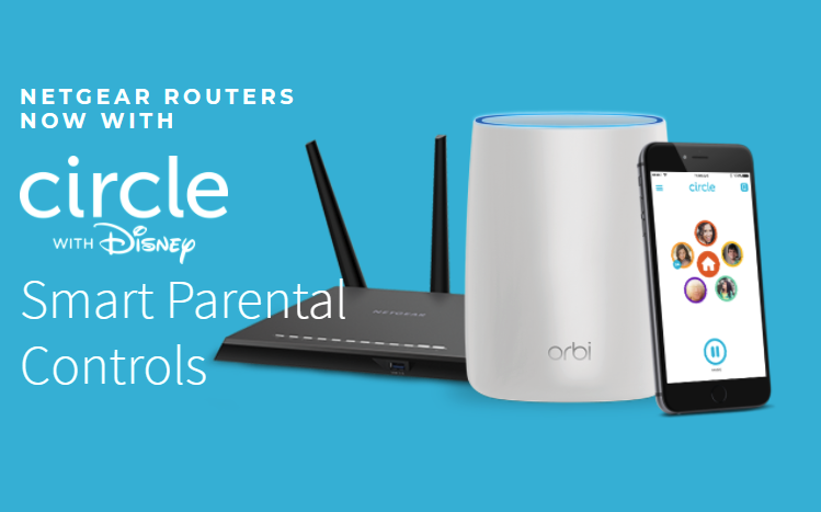 Circle on Orbi WiFi Systems and Nighthawk Routers