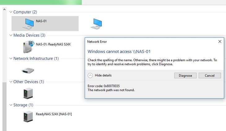 Solved: Windows 10 Install: no longer able to access NAS s ... on