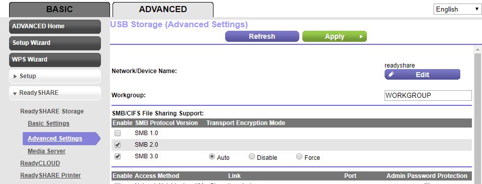 ReadySHARE Advanced Settings - SMB protocol controls.PNG