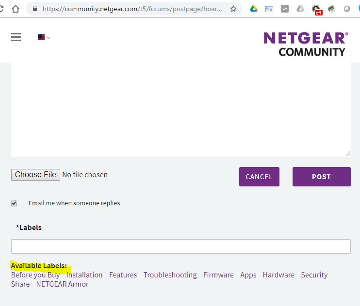 NTGR Community - Labels.PNG