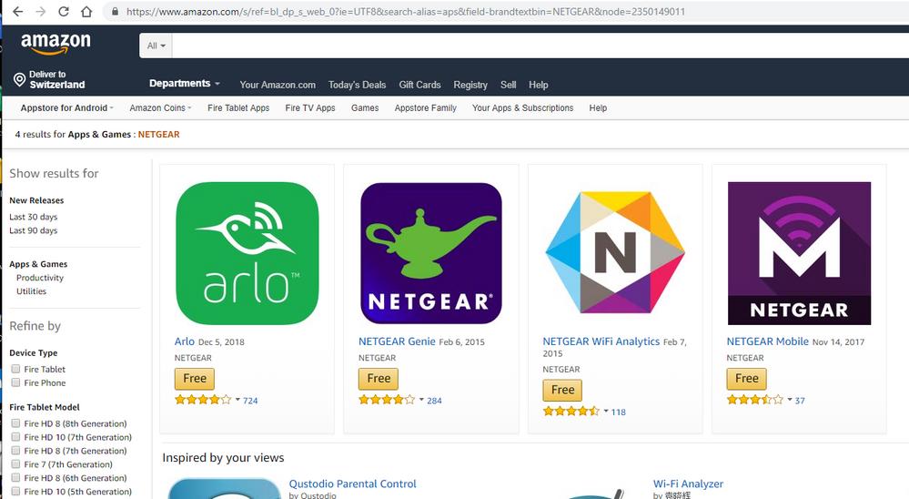 no Nightawk App in the Amapzon App Store.PNG