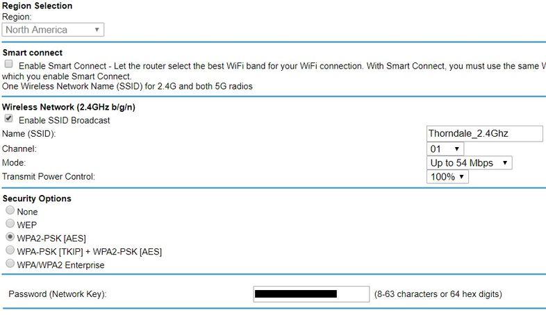 2.4Ghz configuration
