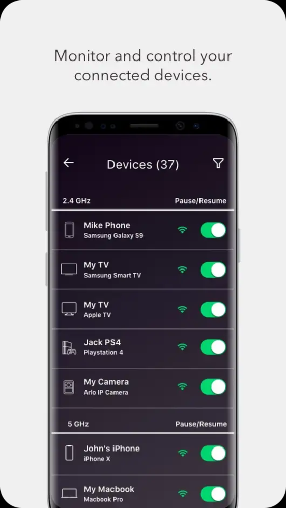 ...while there seem to be many devices - and no indication where these devices are connected to.