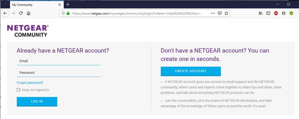 Community Log In - NETGEAR Account.PNG