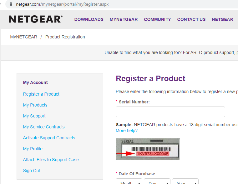 NTGR Product Registration - free Serial Number input.PNG