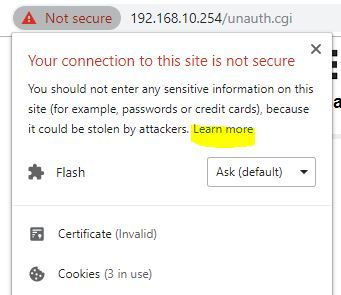 Chrome https not secure - learn more.JPG