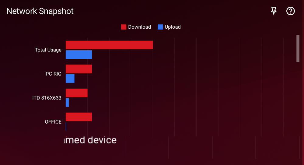 Network snapshot doesn't show the speed down the bottom as it has previously done before