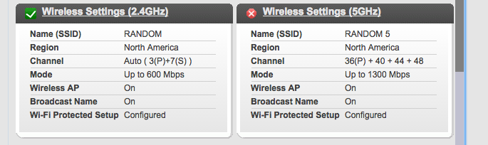 5 GHz radio enabled but not working