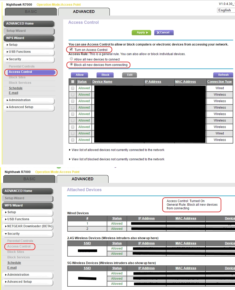 Solved: R7000 new Firmware disables Access Control - NETGEAR Communities