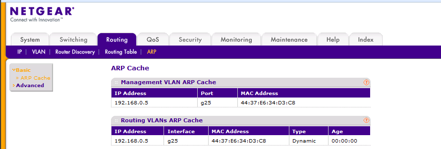 Solved: Finding a mac address off a device on the switch - NETGEAR