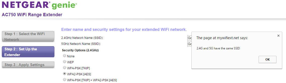 how to change ssid on netgear extender