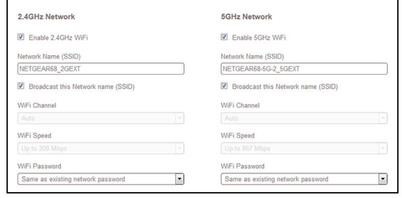 how to change password on netgear extender