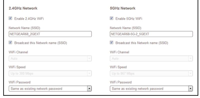 how to change password on netgear extender