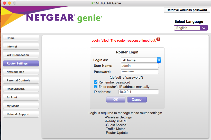 R8000 no longer connects remotely with Genie app a    - NETGEAR