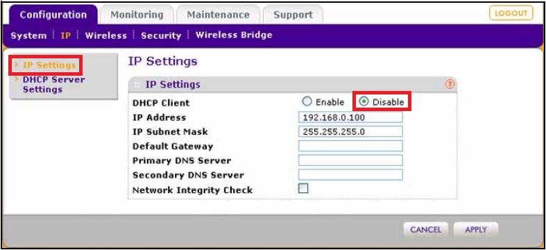 how to set netgear static ip