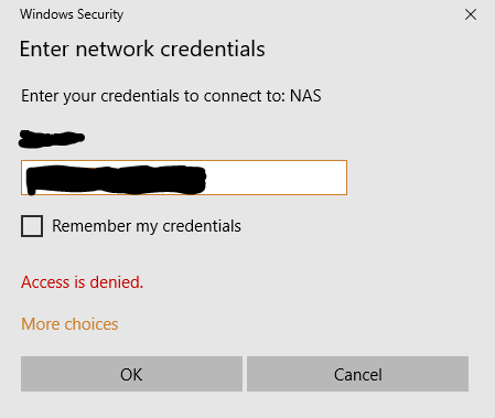 Solved: RN-102 User account cannot access shares over SMB  - NETGEAR