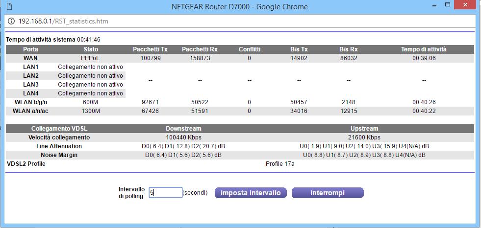 Netgear D7000 Nighthawk SNR Margin Continues to fa    - NETGEAR