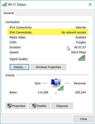 Constant Problems Dropping IPV6 with Comcast on R7