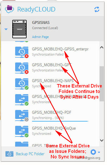 google drive how to sync a folder on external drive
