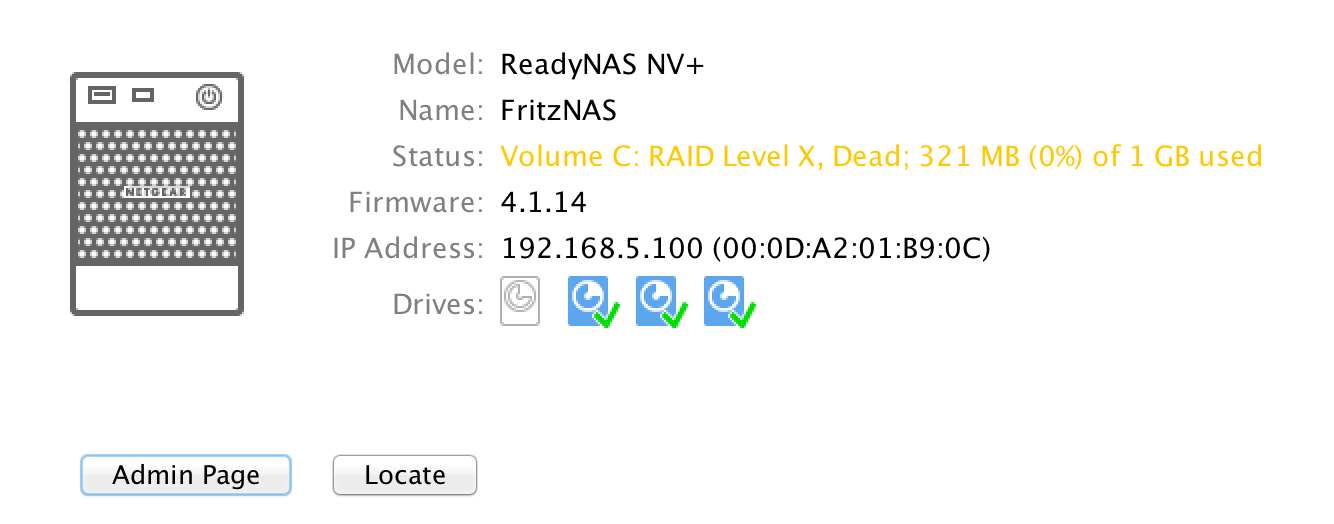 ReadyNAS NV+ will not complete booting - NETGEAR Communities