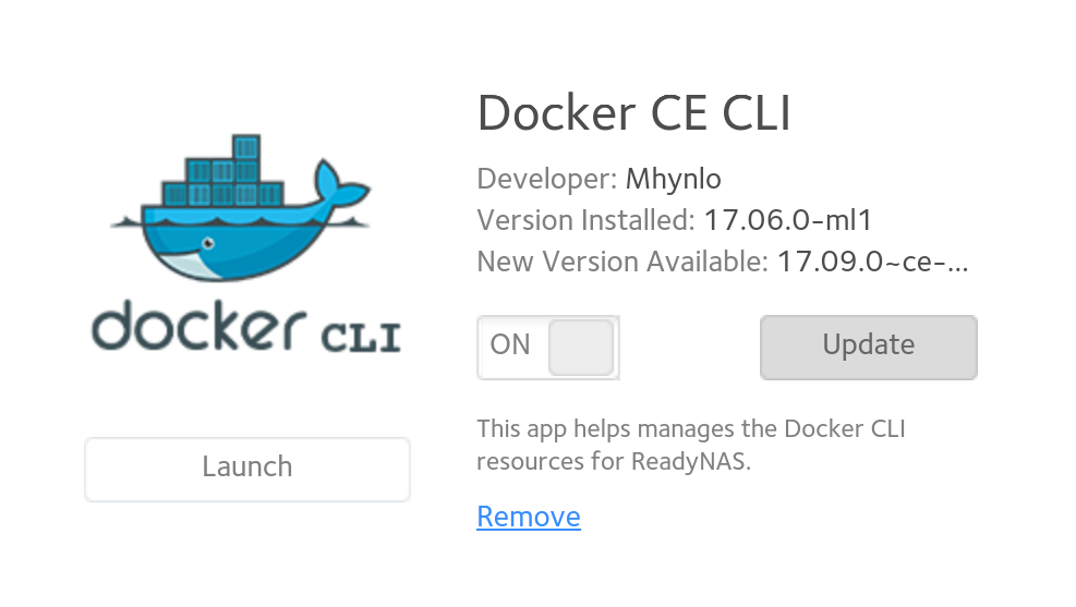 Docker CLI Addon & Readynas OS 6 8 1 Installation     - NETGEAR