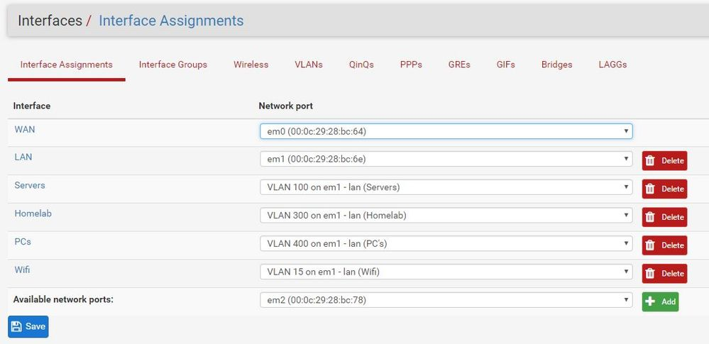 Solved: vlan between GS724Tv4 and virtualized pfsense