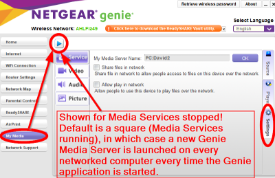 How to prevent Genie Media Service from starting a