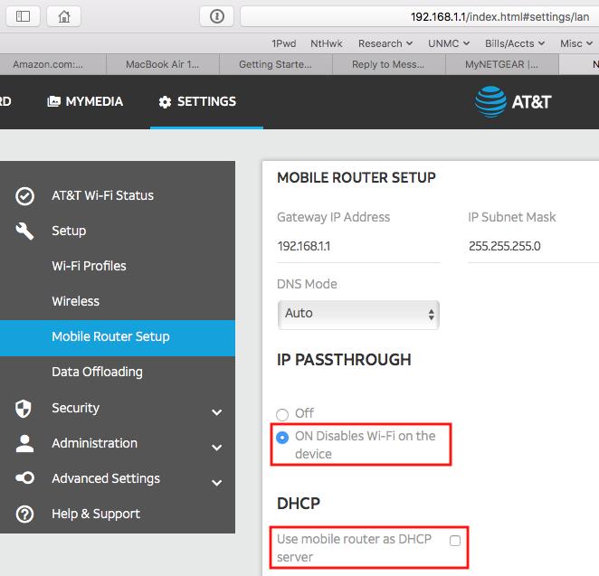How to configure Nighthawk M1 as 4G Modem only - NETGEAR Communities