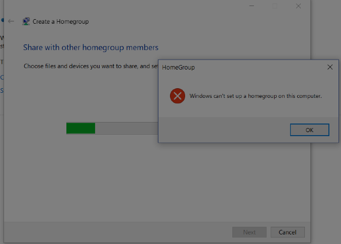 windows cant join homegroup windows 10