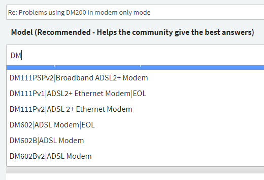 Problems using DM200 in modem only mode - Page 2 - NETGEAR Communities