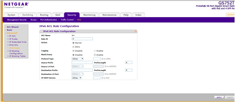 GS728TP disable IPv6 only on one Port - NETGEAR Communities