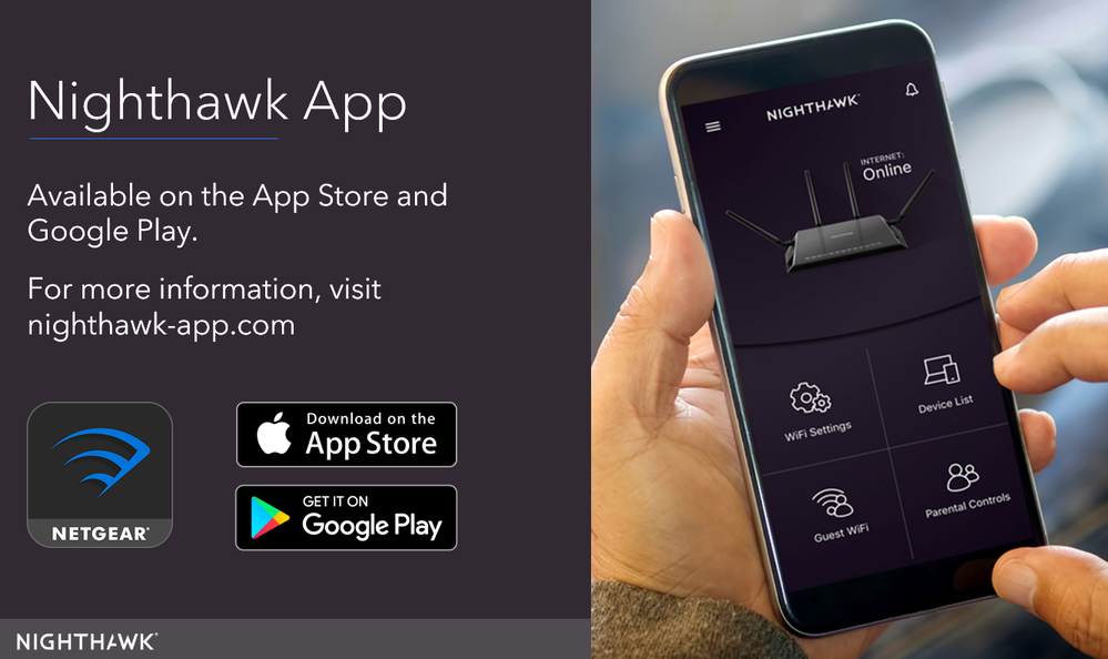 Re: Update to the latest Nighthawk App (formerly N