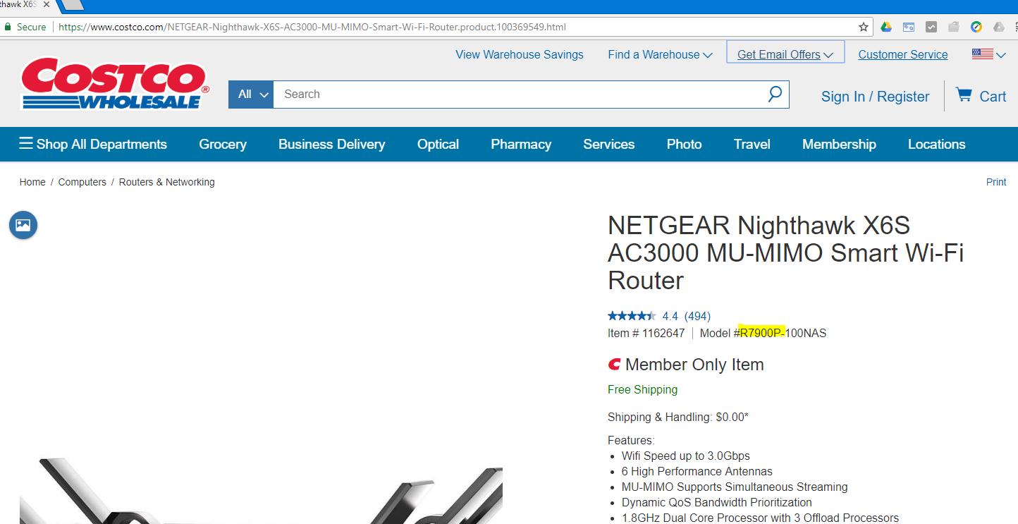 I bought a Nighthawk AC3000 X6S from Costco  Suppo    - NETGEAR