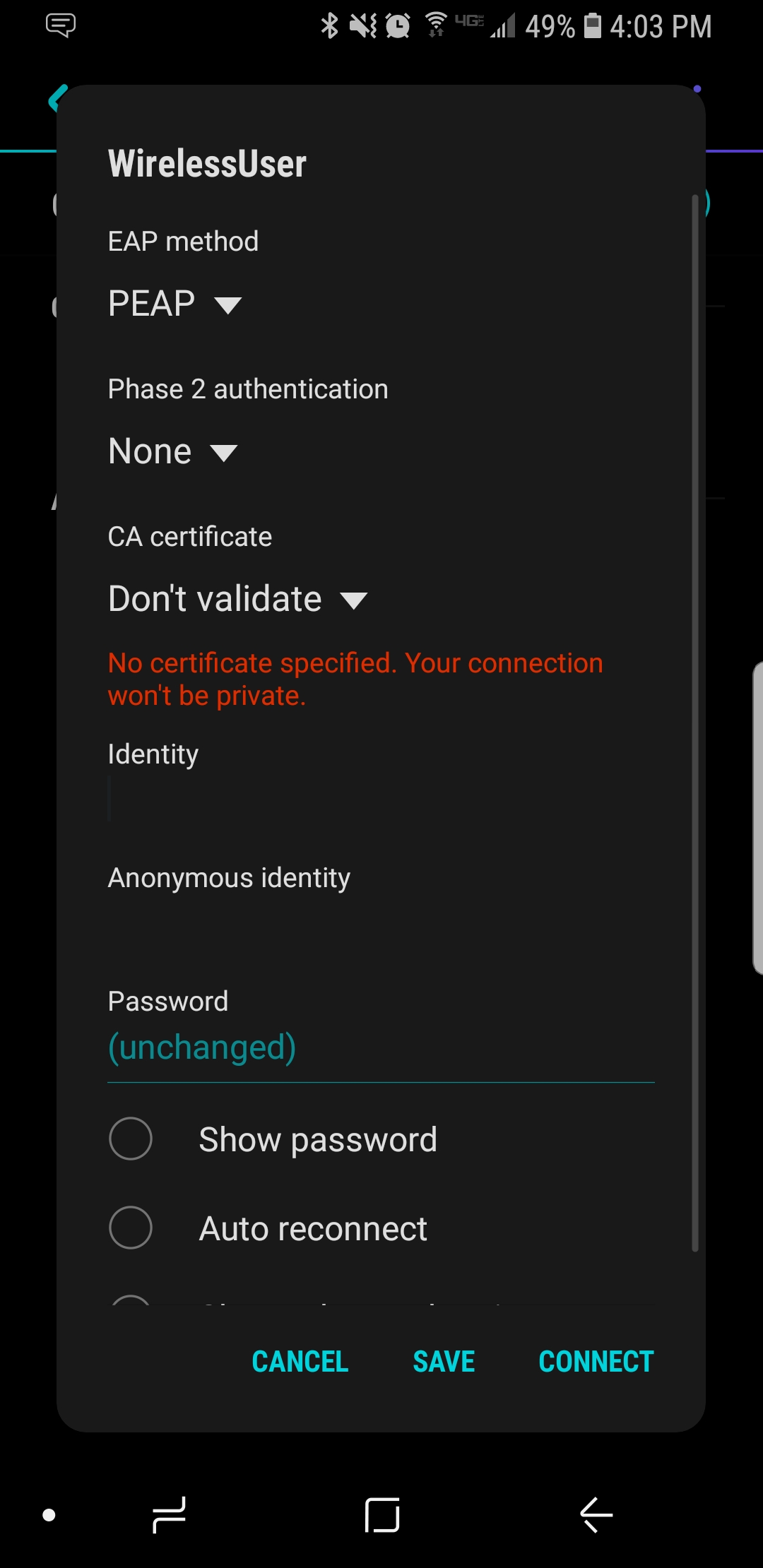 Validating identity wifi booster