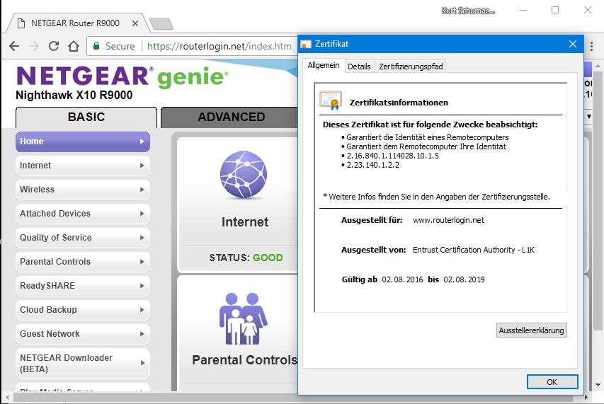 Admin login is not secure/private? - NETGEAR Communities