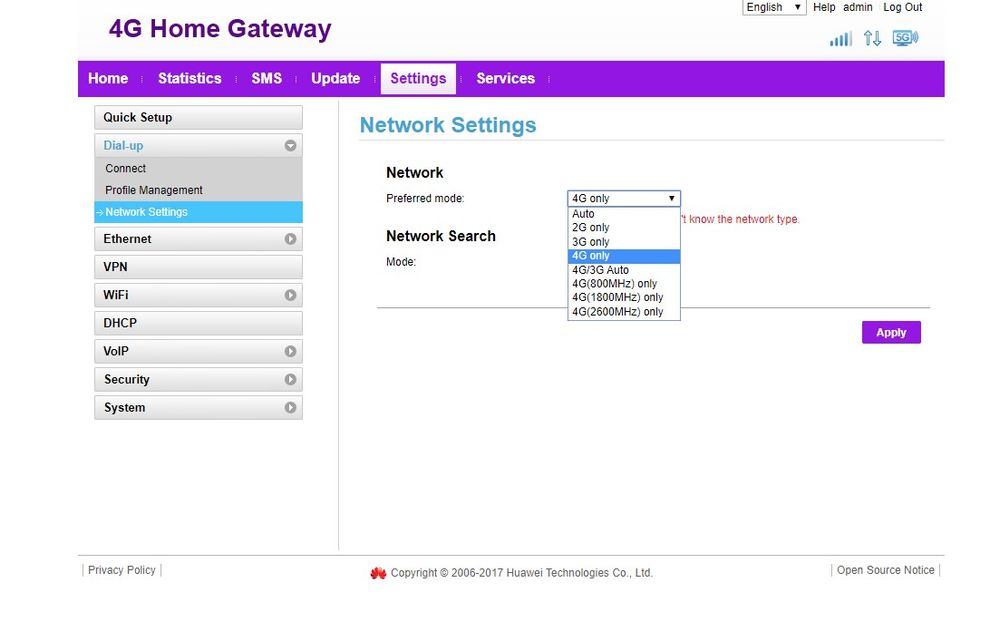 Nighthawk M1 - selection of LTE Frequency/Band - NETGEAR