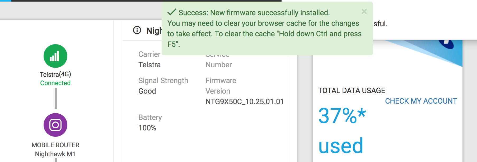 Solved: Anyone know what the latest firmware for the M1100