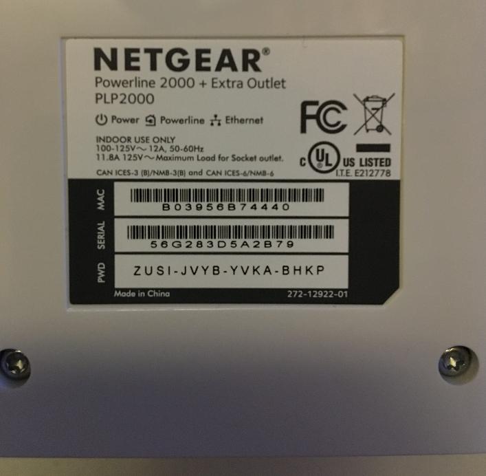 Solved: Powerline PLP2000 AC input - NETGEAR Communities