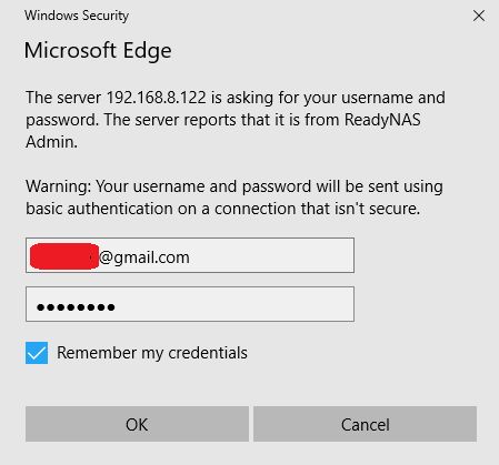 Solved: RN104 Automatic login credentials possible? - NETGEAR