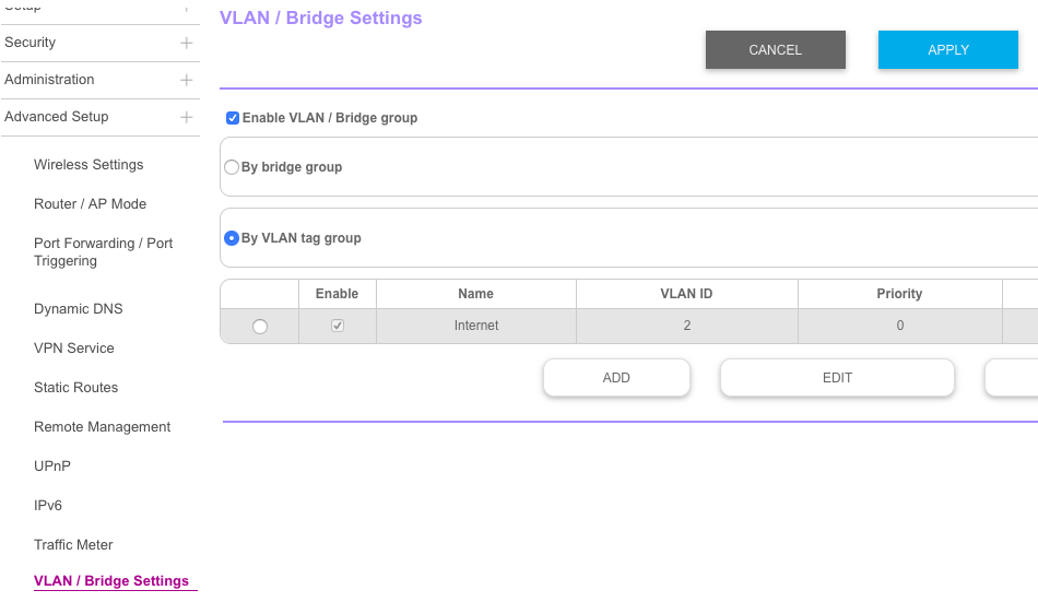 Solved: VLAN tagging for TPG NBN - NETGEAR Communities