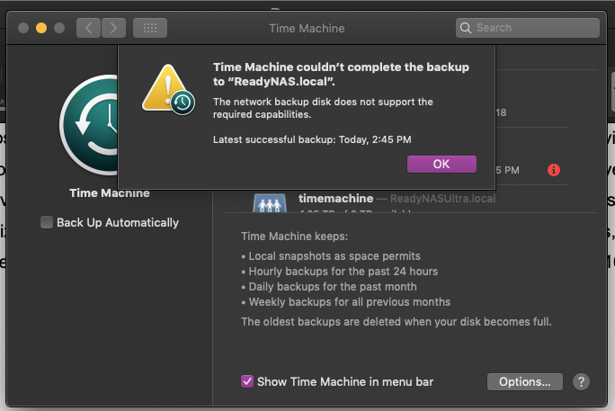 Solved: Time Machine/SMB issues with macOS Mojave - NETGEAR