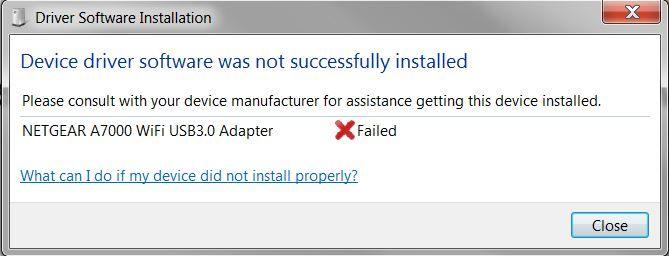 A7000 USB Adaptor - Windows cannot verify the digi
