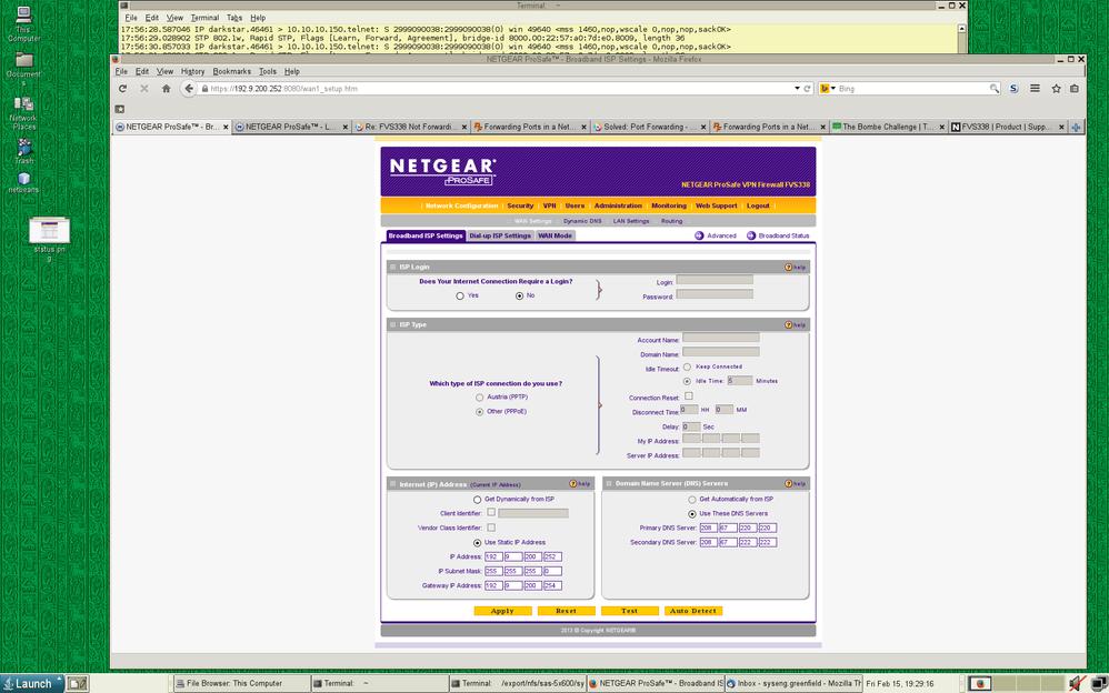 Re: FVS338 Not Forwarding Packets - NETGEAR Communities